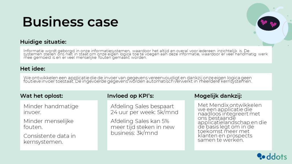 Powerpoint template voor een business case